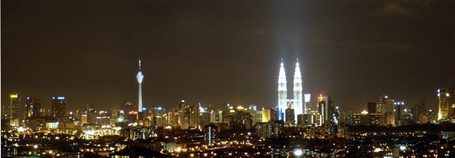 Kuala Lumpur by night skylights